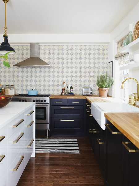 7 navy kitchen - house and home