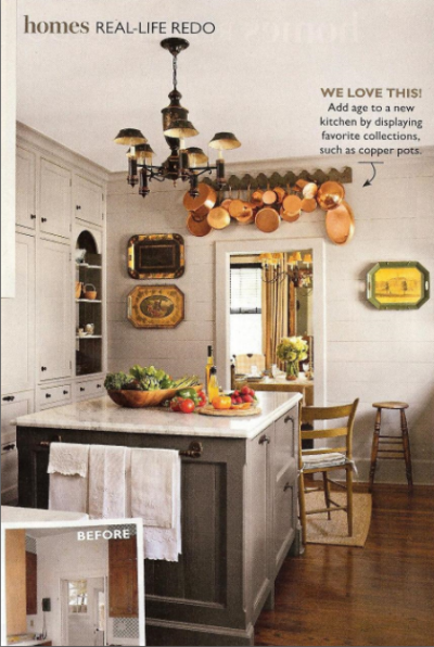 Gray Kitchen - southern living may 2011